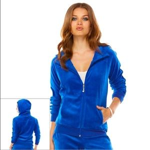 JUICY COUTURE || 90's Blue Velour Hoodie